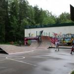 """ПКиО """"Ёлочки"""". Место для катания на скейтах и роликах."""