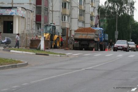 Ремонт дороги на улице Гагарина