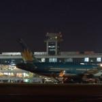 Вечерние огни аэропорта