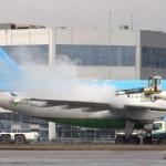 Машины аэропорта Домодедово. Противообледенительная подготовка