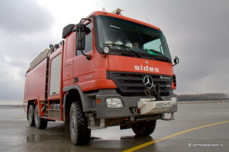 Пожарная машина аэропорта Домодедово