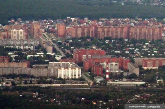 Домодедово сверху: ул. Корнеева, ул. 25 лет Октября, микрорайон «Дружба-2»