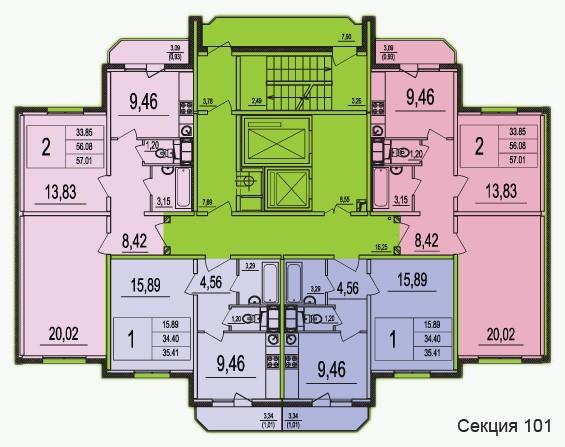 Планировки квартир в Новом Домодедово