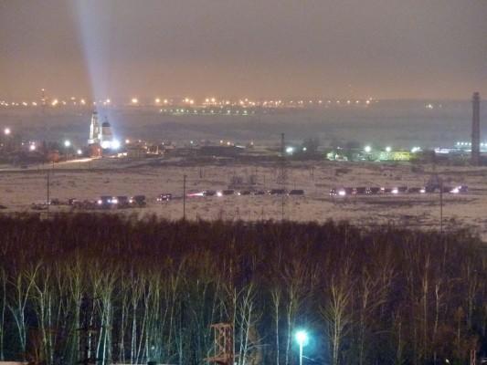 Свалка в Домодедово ночью 29 марта 2012 г. Фото: flashwolf