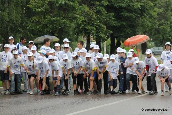 Забег на Советской улице. Дети