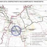 Карта проекта скоростного трамвая Южная Хорда