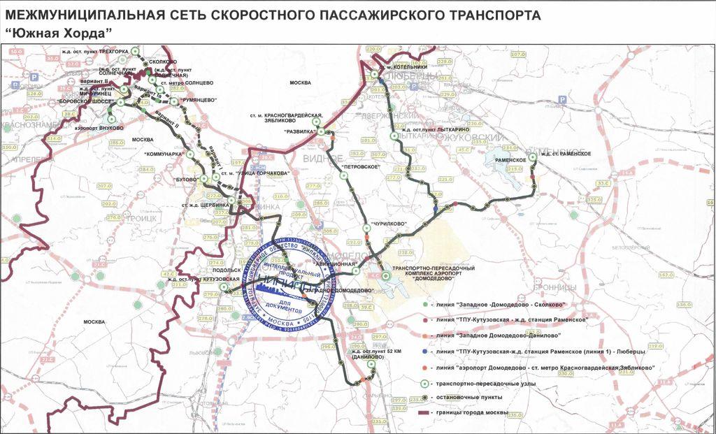Карта проекта скоростного