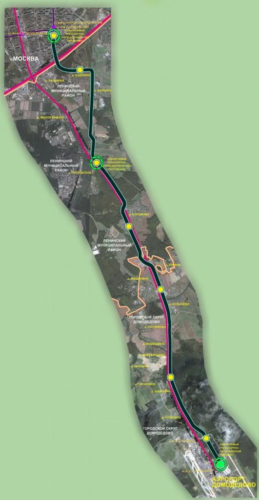 Проект линии Аэропорт - метро Красногвардейская