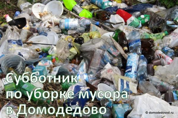 Субботник по уборке мусора в Домодедово