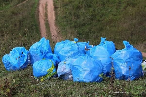 Собранный мусор около Никитского