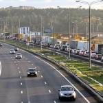 Пробки на платной дороге М4 в Домодедово