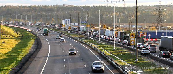 Пробки на платной дороге М4 в Домодедово (1)