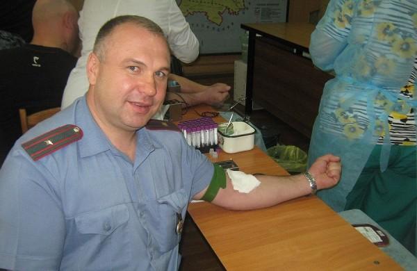 Добровольная сдача крови состоялась в Управлении МВД России по г. о. Домодедово