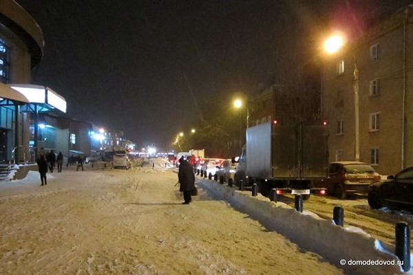 Снегопад в Домодедово привел к пробкам (2)