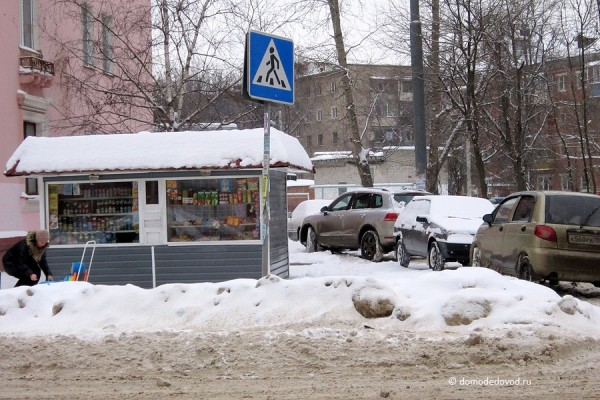 Пешеходный переход в сугроб. Зима 2013