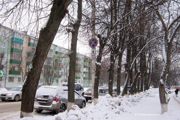 Домодедово. Машины паркуются под знаком «Остановка запрещена» (6)