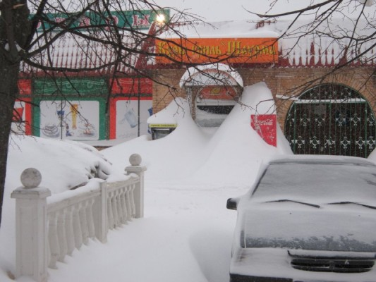 Снегопад в Домодедово