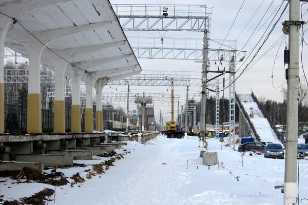 Строительство третьего пути на станции Авиационная