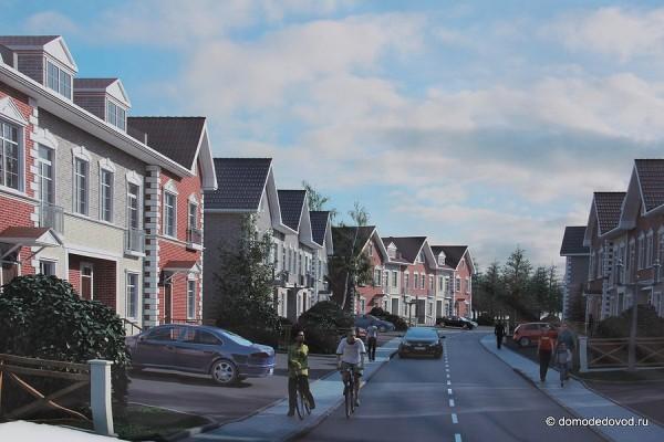 Домодедово Таун. Так будут выглядеть новые дома.