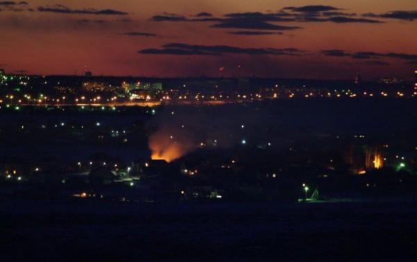 Пожар в Домодедово 28.03.2013