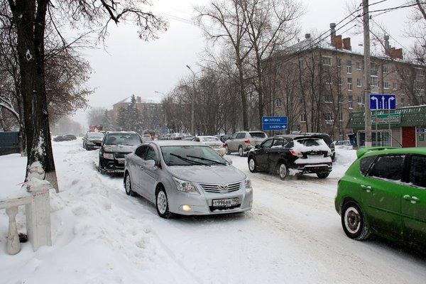 Пробка на улице Советская