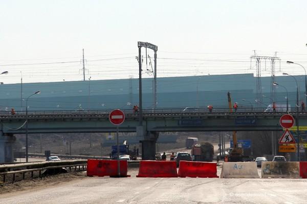 Пострадавший мост через Каширское шоссе