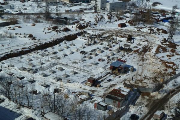 Многоуровневая парковка на Северной. Фото: 28.03.2013г.