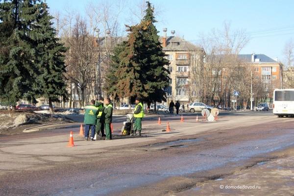 Ремонт дороги на улице Советская