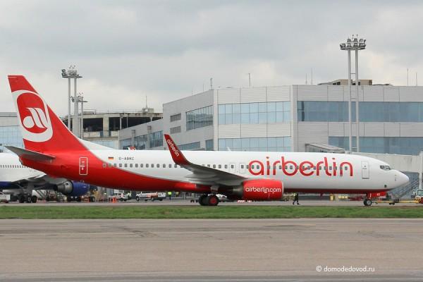 Самолет airberlin в обычной раскраске