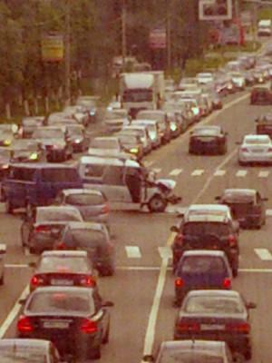 ДТП на пересечении Каширского шоссе и улицы Гагарина