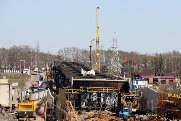 Строительство путепровода на Белых Столбах