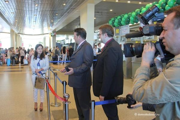 Первый рейс авиакомпании Germania из аэропорта Домодедово