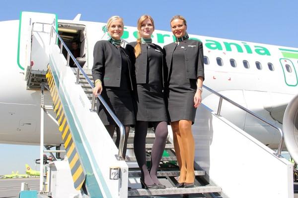 Стюардессы авиакомпании Germania в Домодедово