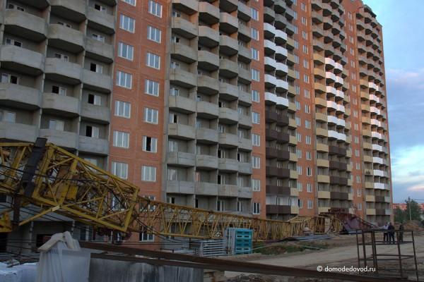 В Домодедово упал башенный кран