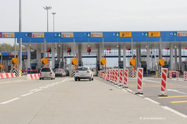Пункт оплаты платного участка автомагистрали М4 Дон