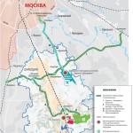 Схема проекта «Южная Хорда» в Домодедово
