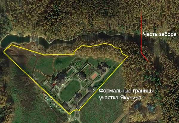 Дача Якунина, река и забор