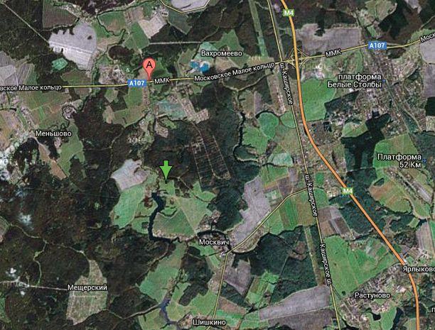 Дача Якунина на карте