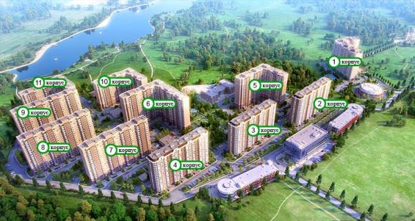 План застройки жилого квартала «Эко Видное»