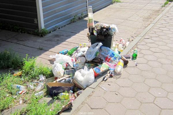Мусорка в Домодедово на улице Советская