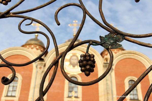 Орнамент на воротах в виде виноградной лозы