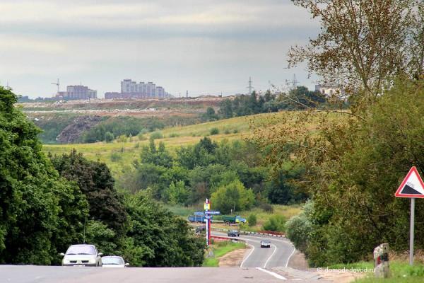Вид на Домодедово с Домодедовского шоссе