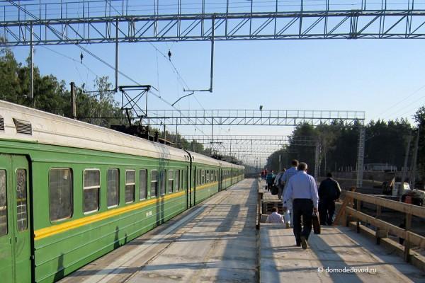 Новая платформа на станции Авиационная