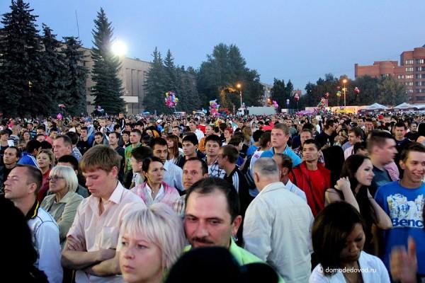 Зрители на площади