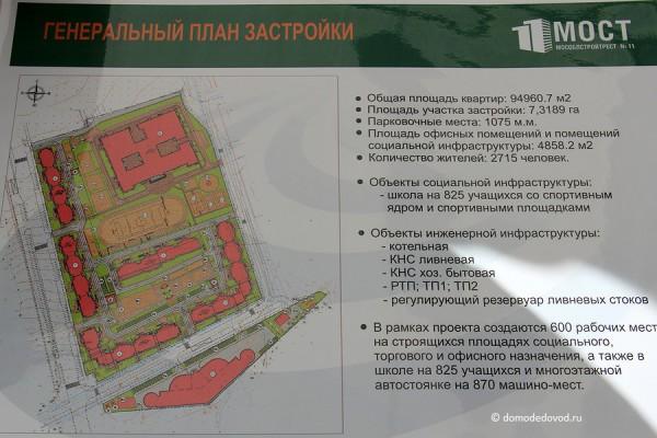 Генеральный план застройки жилого комплекса
