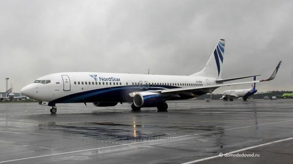 Самолёт авиакомпании NordStar в аэропорту Домодедово