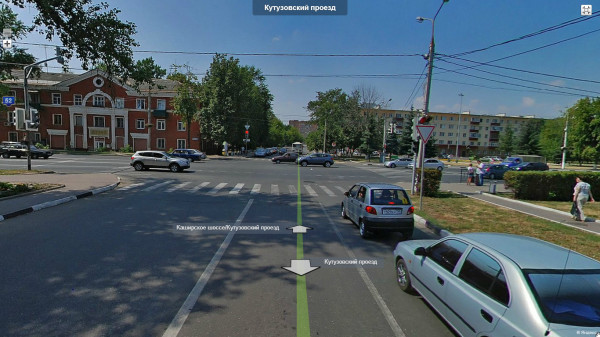 Домодедово. Перекресток Кутузовского проезда и Каширского шоссе до капитального ремонта