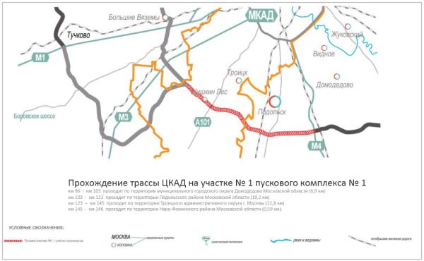 Проект Центральной кольцевой автомобильной дорог