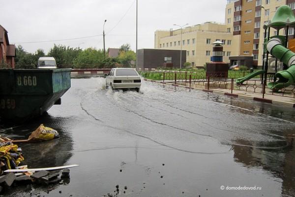 Это не наводнение в Хабаровске. Недавно сданный дом в Домодедово