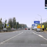 Пешеходный переход на дороге Аэропорт — Москва